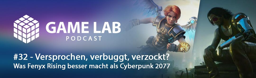 GameLab Podcast #32 – Versprochen, Verbuggt, Verzockt – Schwerer Launch für Cyberpunk 2077 und ein fantastischer für Immortals Fenyx Rising